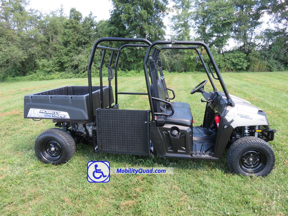 Mobility quad handicapped all terrain wheelchair vehicle for Handicapped wheelchair